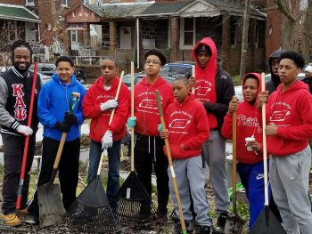 The Academy Students Clean-up a Community Garden